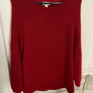 Long Red Sweater